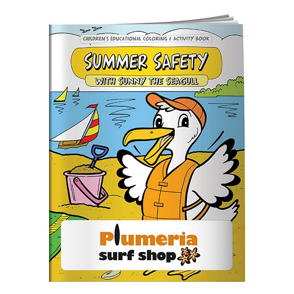 Promotional Summer Safety Coloring Book   Customized Summer Safety ...