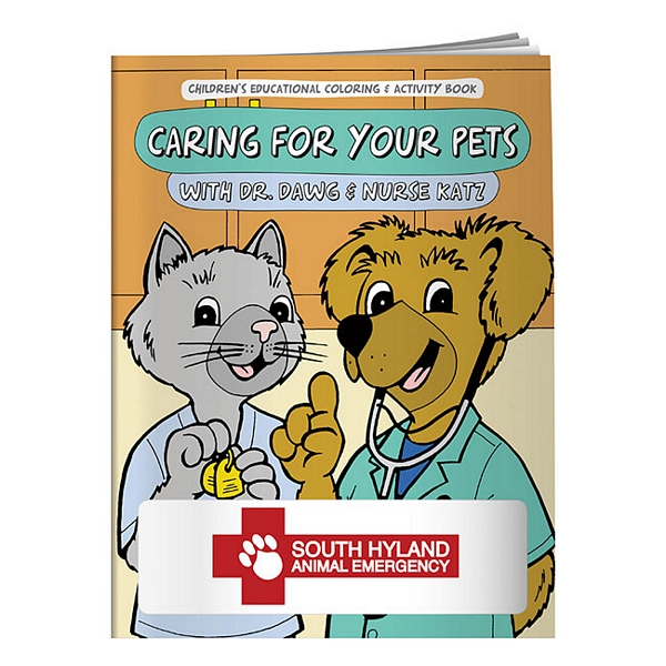 Promotional Caring for Your Pets Coloring Book | Customized Caring ...