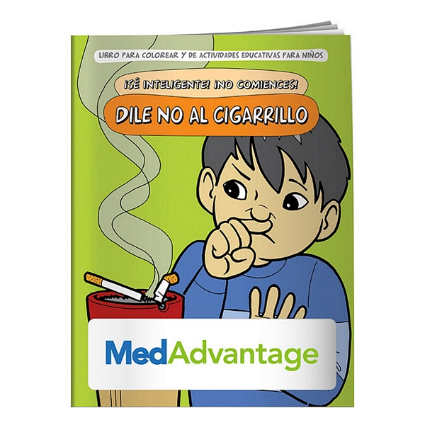 Promotional Say NO to Smoking Spanish Coloring Book | Customized Say ...