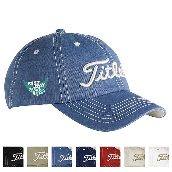 04110874d70 Promotional Titleist Custom Unstructured Contrast Stitch Cap ...