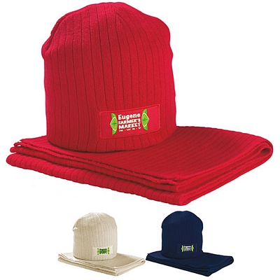 Promotional Hat and Scarf Set