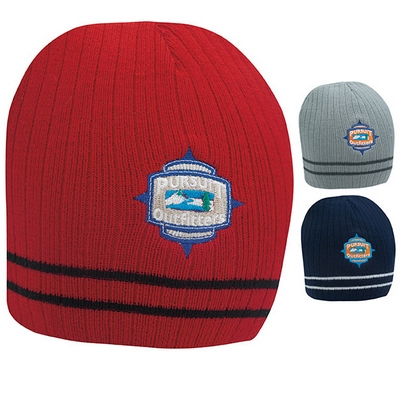 Promotional Double Stripe Beanie