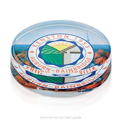 Promotional Jaffa Round Paperweight