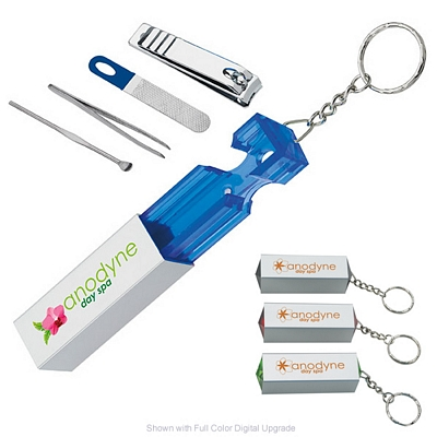 Promotional Manicure Pillar Kit Keychain