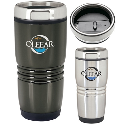 Promotional 15 oz. Rolling Ridges Stainless Tumbler