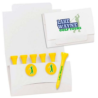 Promotional 6-2 Golf Tee Packet 3-1/4 Tee