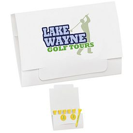 Promotional 6-2 Golf Tee Packet Value Pak-2-1/8 Tees