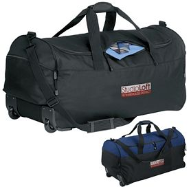 Promotional Wheeled Polyester Duffel Bag