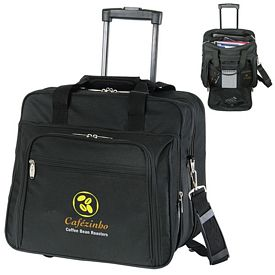Promotional Wheeled Laptop Polyester Briefcase