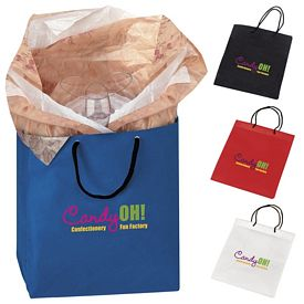 Promotional 8x10x4 NonWoven Gift Tote Bag