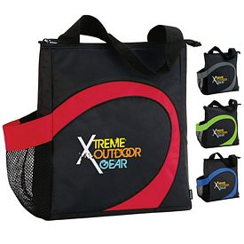 Promotional Koozie Swirl Lunch Kooler Tote Bag
