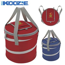 Promotional Koozie Collapsible Round Kooler Bag