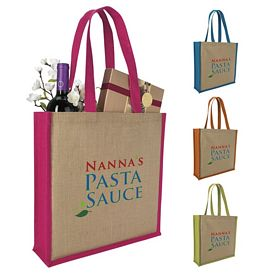 Promotional Laminated Jute Portrait Tote Bag