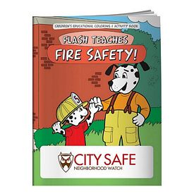 Promotional Coloring Book: Flash Teaches Fire Safety