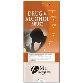 Promotional Medical Pocket Slider: Drug & Alcohol Abuse