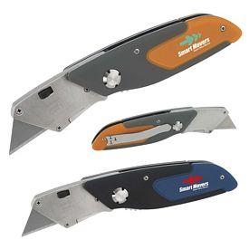 Promotional Cushion Grip Folding Utility Knife