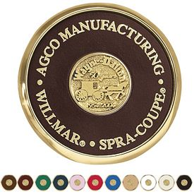 Promotional Jaffa Round Brass Coaster