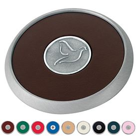 Promotional Jaffa Round Brushed Zinc Coaster