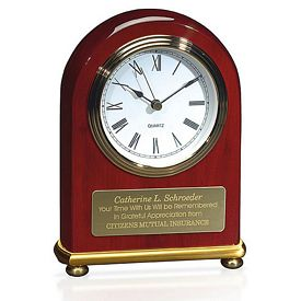 Promotional Jaffa Rosewood Arch Clock