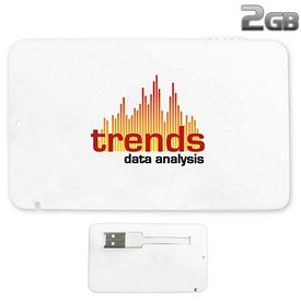 Promotional 2 GB Full-Color Credit Card USB 2.0 Flash Drive