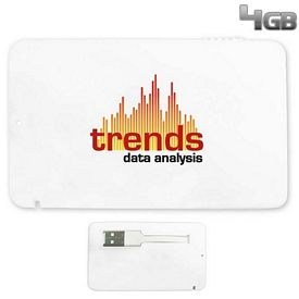 Promotional 4 GB Full-Color Credit Card USB 2.0 Flash Drive
