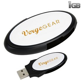 Promotional 1 GB Oval Folding USB 2.0 Flash Drive