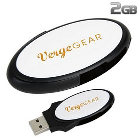 Promotional 2 GB Oval Folding USB 2.0 Flash Drive