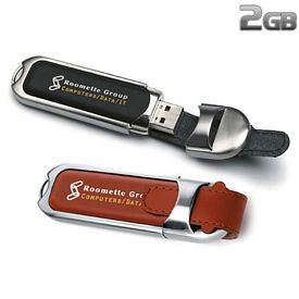 Promotional 2 GB Leather Buckle USB 2.0 Flash Drive