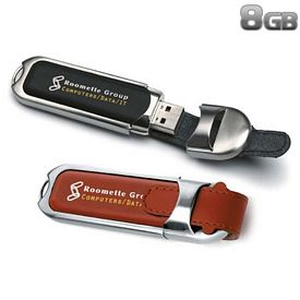 Promotional 8 GB Leather Buckle USB 2.0 Flash Drive
