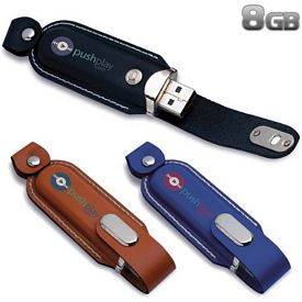 Promotional 8 GB Executive Leather USB