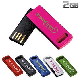Promotional 2 GB Aluminum USB 2.0 Flash Drive