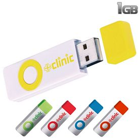 Promotional 1 GB Color Pop USB 2.0 Flash Drive