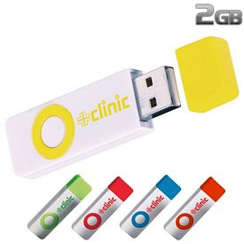 Promotional 2 GB Color Pop USB 2.0 Flash Drive