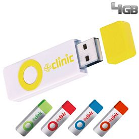 Promotional 4 GB Color Pop USB 2.0 Flash Drive