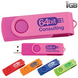 Promotional 1 GB Two Tone Folding USB 2.0 Flash Drive