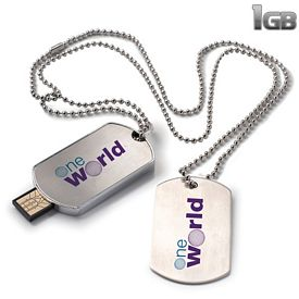 Promotional 1 GB Dog Tag USB 2.0 Flash Drive