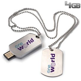 Promotional 4 GB Dog Tag USB 2.0 Flash Drive
