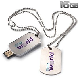 Promotional 16 GB Dog Tag USB 2.0 Flash Drive