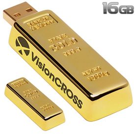 Promotional 16 GB Golden Nugget USB 2.0 Flash Drive