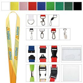 Promotional 5/8 Polyester 4 Color Lanyard