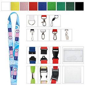 Promotional 3/4 Polyester 4 Color Lanyard