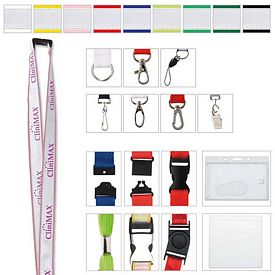 Promotional 3/4 Polyester with Ribbon Lanyard