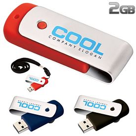 Promotional 2 GB Revolve USB 2.0 Flash Drive