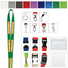Promotional 3/8 Polyester Woven Lanyard