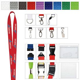 Promotional 5/8 Polyester Woven Lanyard
