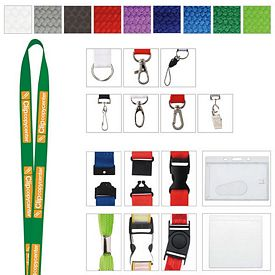 Promotional 3/4 Polyester Woven Lanyard