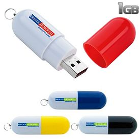 Promotional 1 GB Capsule USB 2.0 Flash Drive