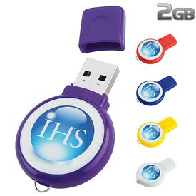 Promotional 2 GB Circle USB 2.0 Flash Drive