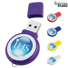Promotional 4 GB Circle USB 2.0 Flash Drive