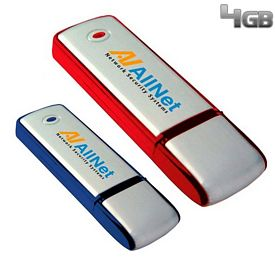 Promotional 4 GB Square Two-Tone USB 2.0 Flash Drive